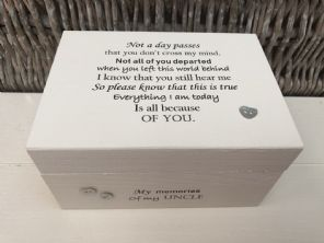Personalised In Memory Of A Loved One ~ Box ~ UNCLE ~ any Name Bereavement Loss - 253568262525